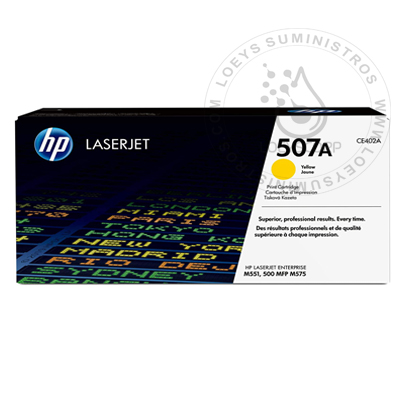 TONER HP 507A YELLOW