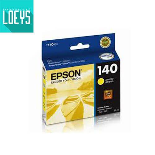 Cartucho de Tinta Epson T140 Yellow 10ml