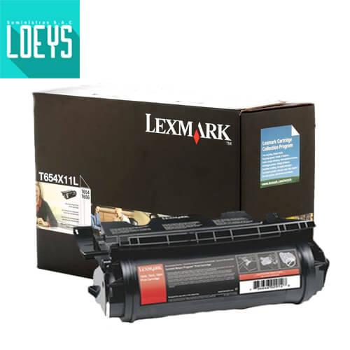 Toner Lexmark T654X11L Negro