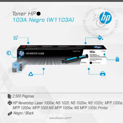TONER HP 103A NEGRO