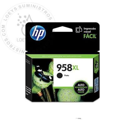 Tinta HP 958xl Negro L0R41AL 3,000 Pag