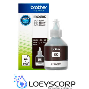 BROTHER TINTA BT-6001BK PARA 6000 PAGINAS NEGRO
